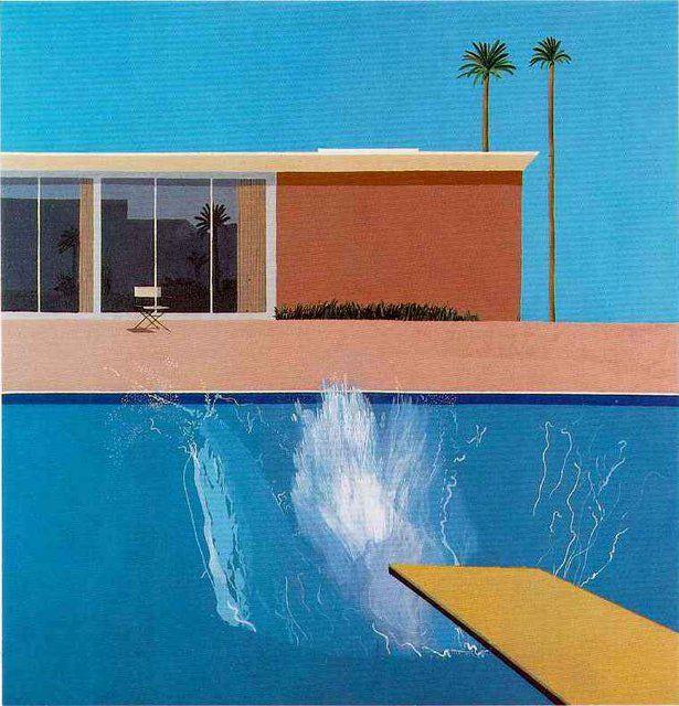 David Hockney (born 1937) A Bigger Splash Date 1967 Acrylic paint on canvas 2425 x 2439 x 30 mm Collection Tate