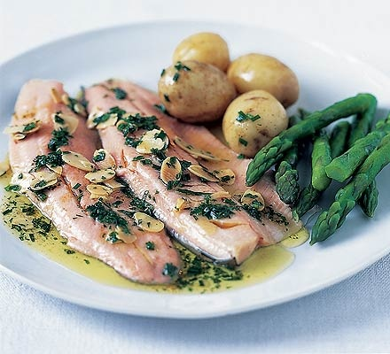 Trout with brown butter & almonds, also very good with pinenuts ...
