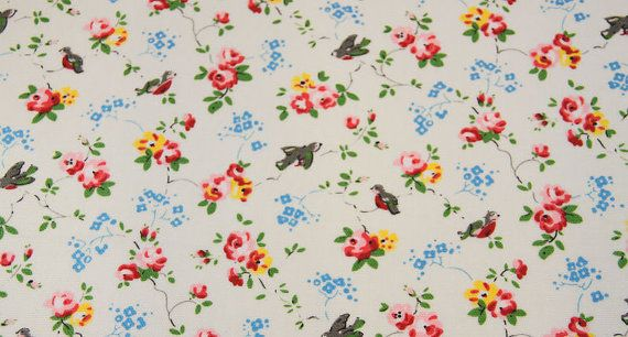 2891  Cath Kidston Bird White Oilcloth Waterproof When I have finished all my current projects I want this...