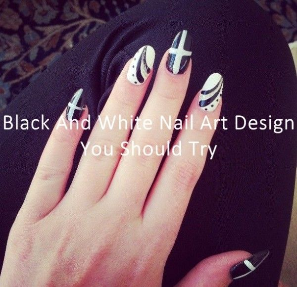 Black And White Nail Art Design You Should Try visit more http://bit.ly/1oUFtLg
