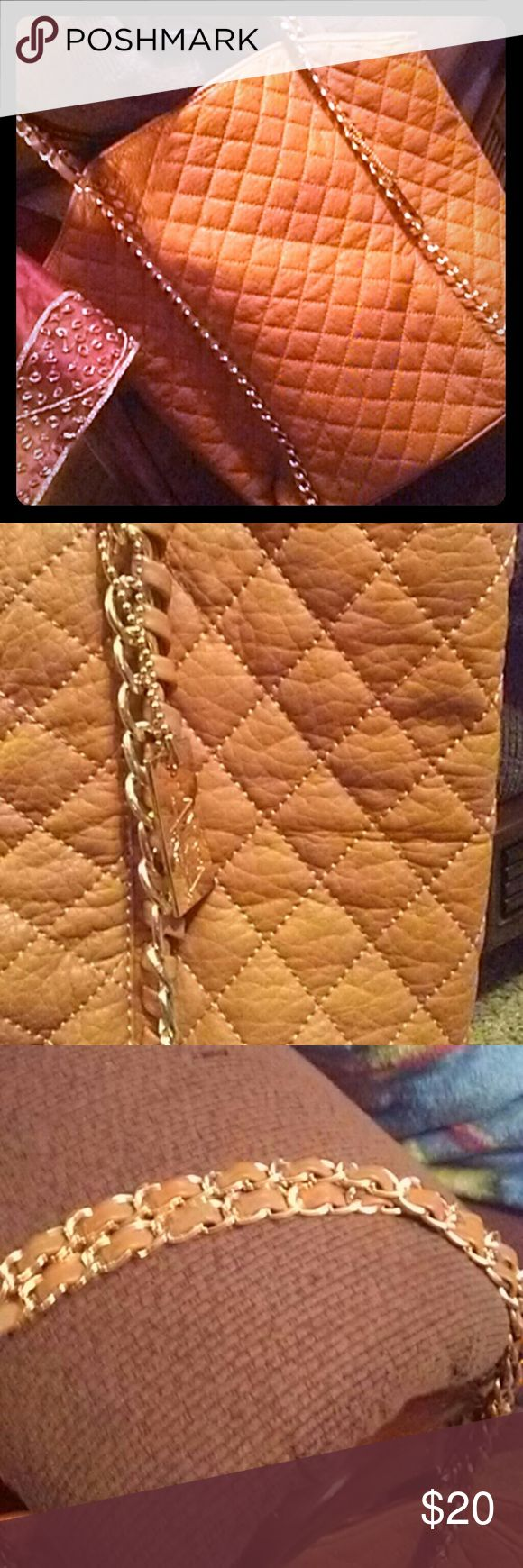 AMRITA SINGH purse! Mustard colored purse..good condition...no outside flaws...minor threading on inside as shown Amrita Singh Bags Hobos