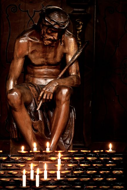 """""""What a beautiful statue of Jesus in the midst of His Passion. Reminder of his utter loneliness and desolation."""""""