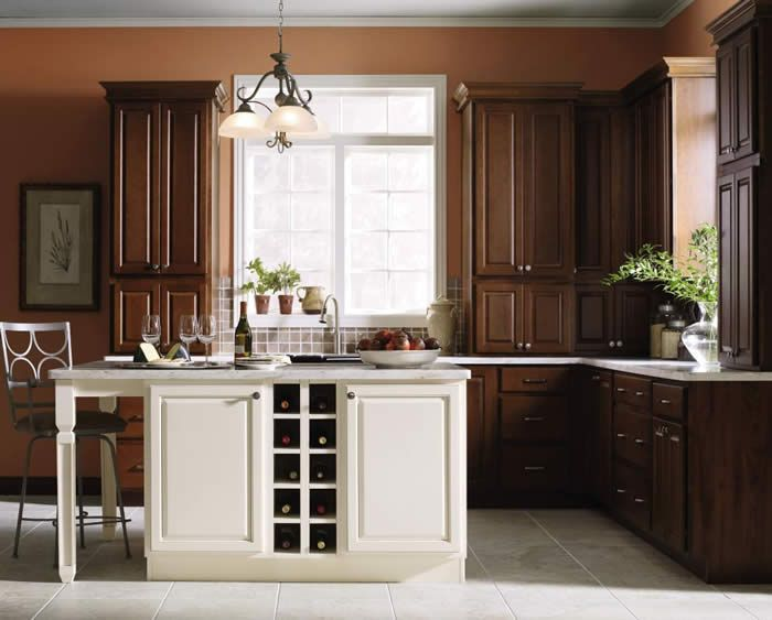 this transitional kitchen has a look that will never go out of style