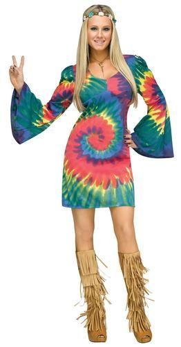 Groovy-Hippie-senoras-vestido-de-lujo-Hippy-Anos-60-anos-70-la-paz-para-mujer-Adultos-Disfraz