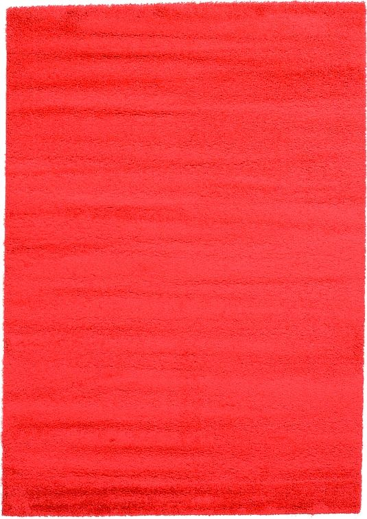 Red 6' 7 x 9' 4 Solid Shag Rug | Area Rugs | eSaleRugs
