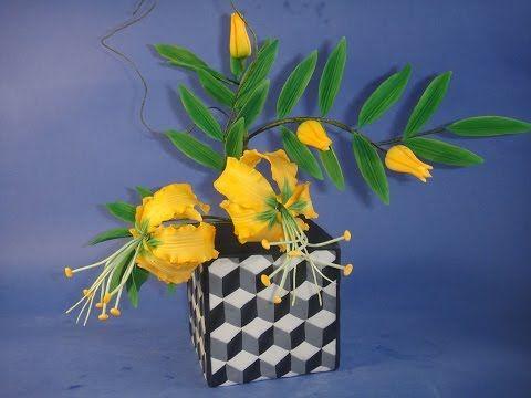 Цветы из мастики. Азиатские лилии. Asian Lily. Gumpaste flowers. - YouTube