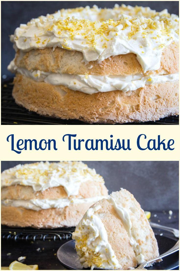 Lemon Tiramisu Cake, white chocolate, whipped cream and mascarpone make this no egg Tiramisu Cake Recipe perfectly delicious. via @https://it.pinterest.com/Italianinkitchn/