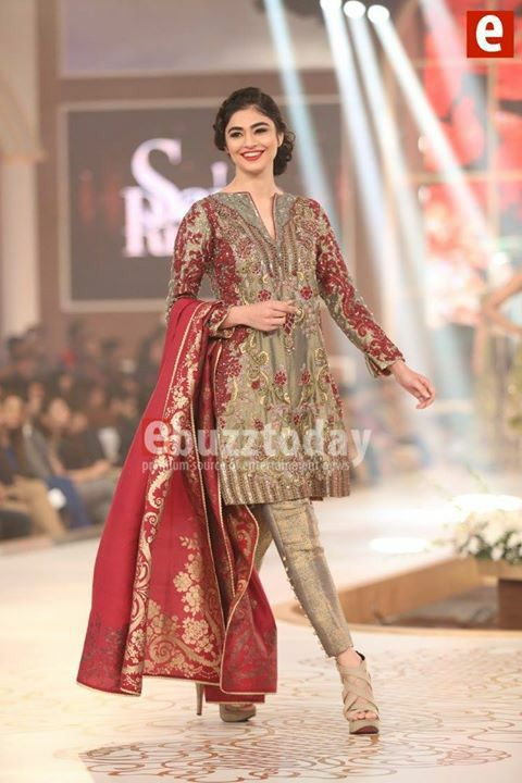 #sairaRizwan presenting in telenor Pakistan bridal coutour week Dec2015 pinned by #sidrayounas