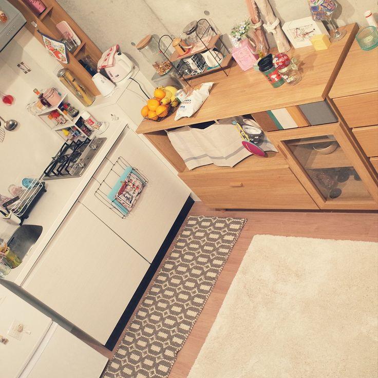 無印良品/ベルメゾン/一人暮らし/キッチンのインテリア実例 - 2016-01-24 14:21:08 | RoomClip(ルームクリップ)
