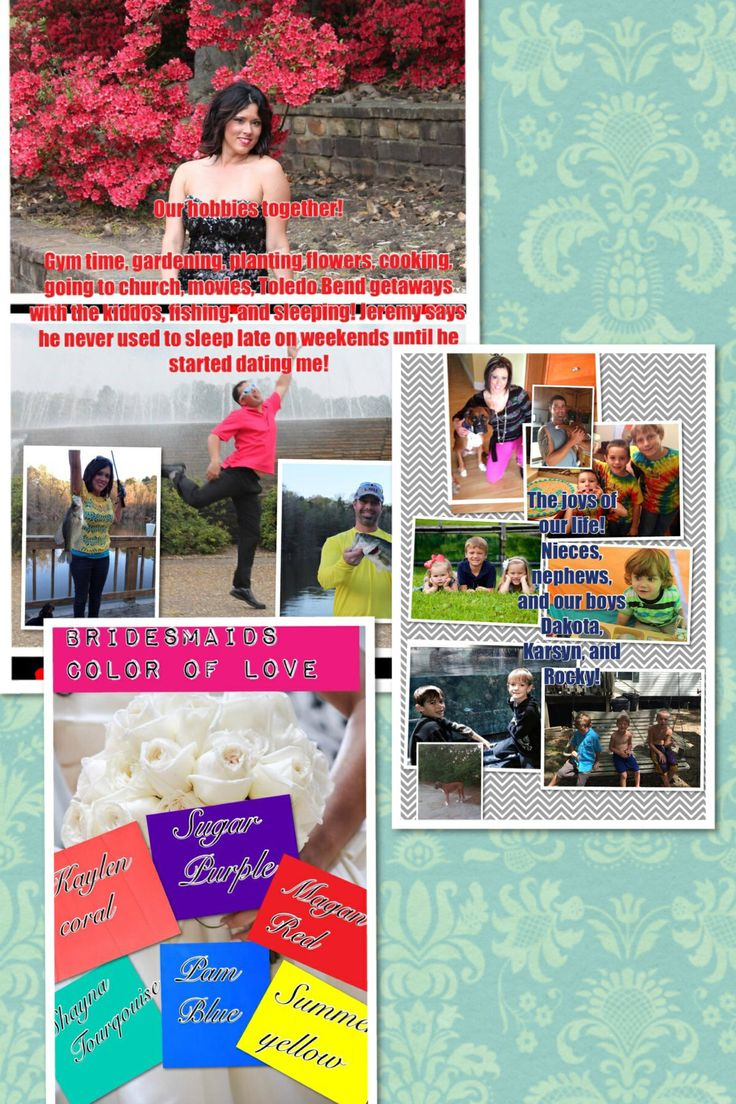 Wedding Favors pages 4 through 6. I made a booklet that each guest will receive at the reception!