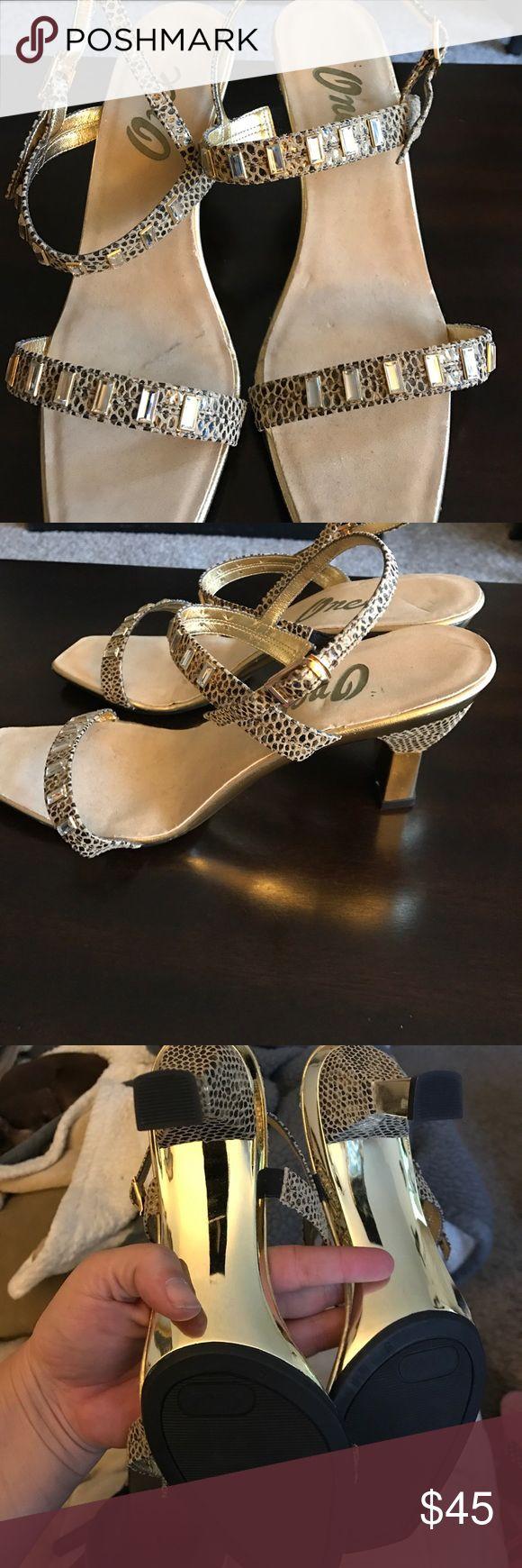 Never worn Onex heels Never worn Onex heels with diamond (fake) accents. Women's size 9 Onex Shoes Heels