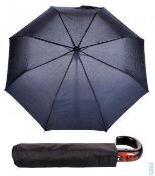 Pánský skládací vystřelovací deštník Mini AC Big 72066B černý, Doppler