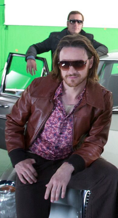 James Mcavoy on set for X-Men Days of Future Past