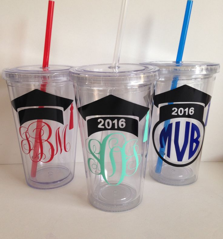 Personalized Vinyl Graduation Tumblers by Meraki Designs on Etsy