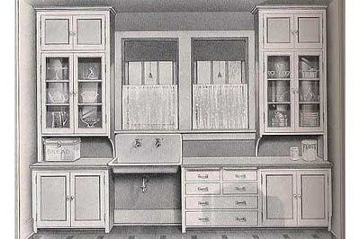 """1920 Craftsman Kitchens  """"...researching kitchens from the 1920's, particularly the Craftsman kitchen. ...1927, it was a Sears Craftsman Bungalow plan."""""""