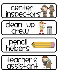 Crazy for First Grade: Classroom Jobs individual jobs and classroom crews? Groups that help with communal tasks (cleaning p, dusting, etc)