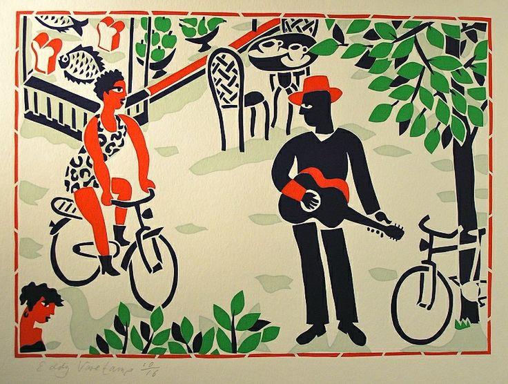 Stencilprint, Street Musician