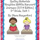 This file has spelling pages that match the Houghton Mifflin Harcourt Journeys reading program. The file includes 5 different practice pages (word ...