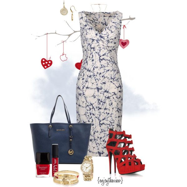 red, white, & blue by enjoytheview on Polyvore