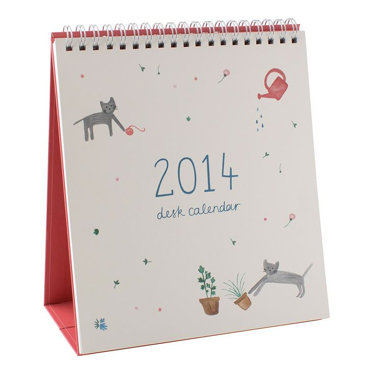 This super sweet desk calendar is perfect for any workspace in 2014. With a monthly overview included, you're able to see last month and the month ahead, keeping you stress-free in style. #2014 #Calendar