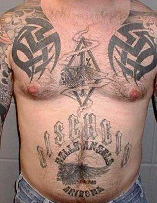 7 best biker tattoos images on pinterest biker tattoos for Hells angels tattoos pics