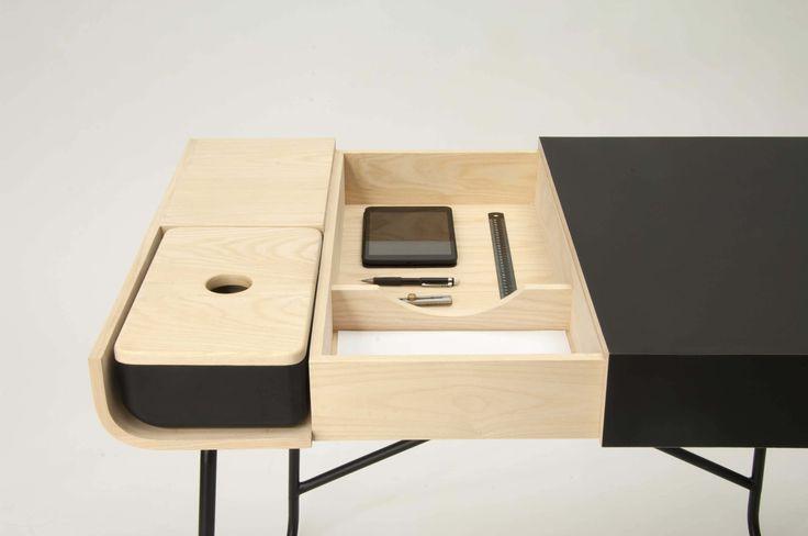 MeetMyDesk is being exhibited at Fuori Salone 2014. Fredeik Alexander Werner design. Wood and FENIX NTM.