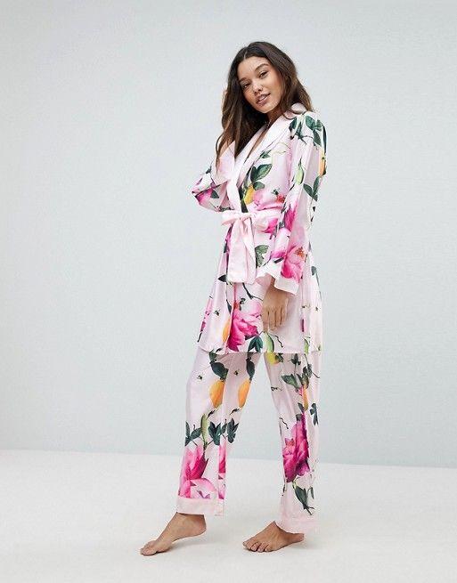 f674360640af27 B By Ted Baker Citrus Bloom Kimono