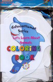 4TL Kilit Yayınları - Şekilli Renkli İngilizce Boyama Kitapları 10 Adet