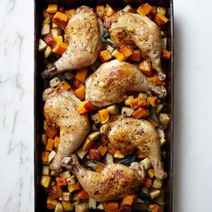 Butternut Squash-Chicken Pan-Roast