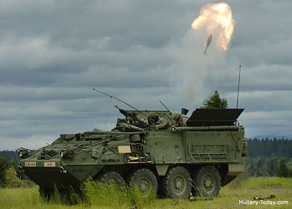 The M1129 Stryker mortar carrier provides indirect fire support to ...
