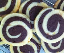 Chocolate-orange Shortbread Pinwheels {Thermomix}