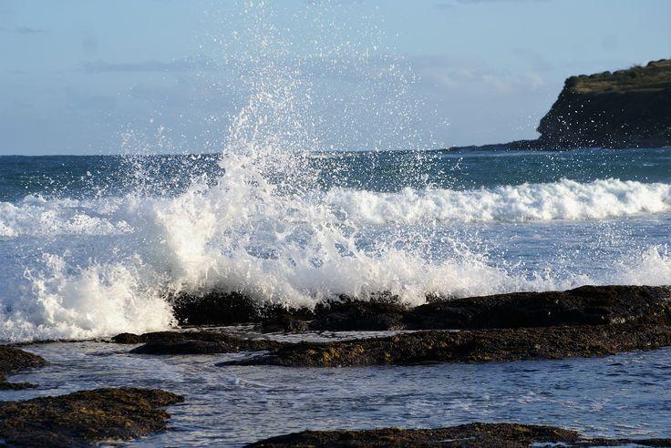#sea#bubbles#hill#sky#clouds#stones