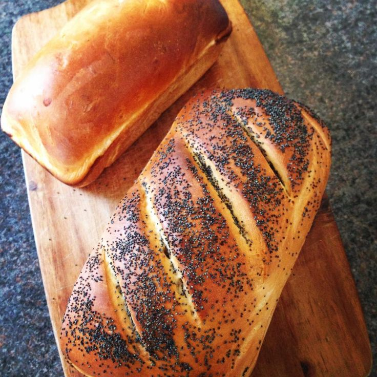 Basic White Bread Recipe & Poppy Seed Loaf