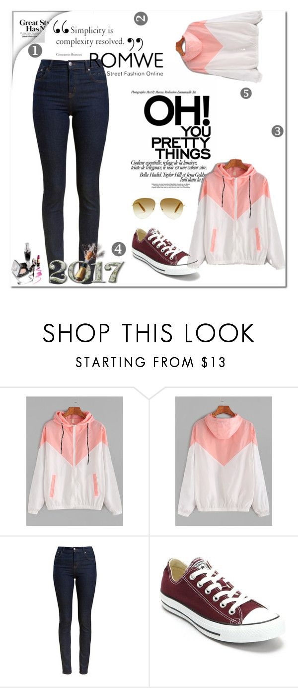 """romwe"" by jas75 ❤ liked on Polyvore featuring Barbour, Converse and Victoria Beckham"
