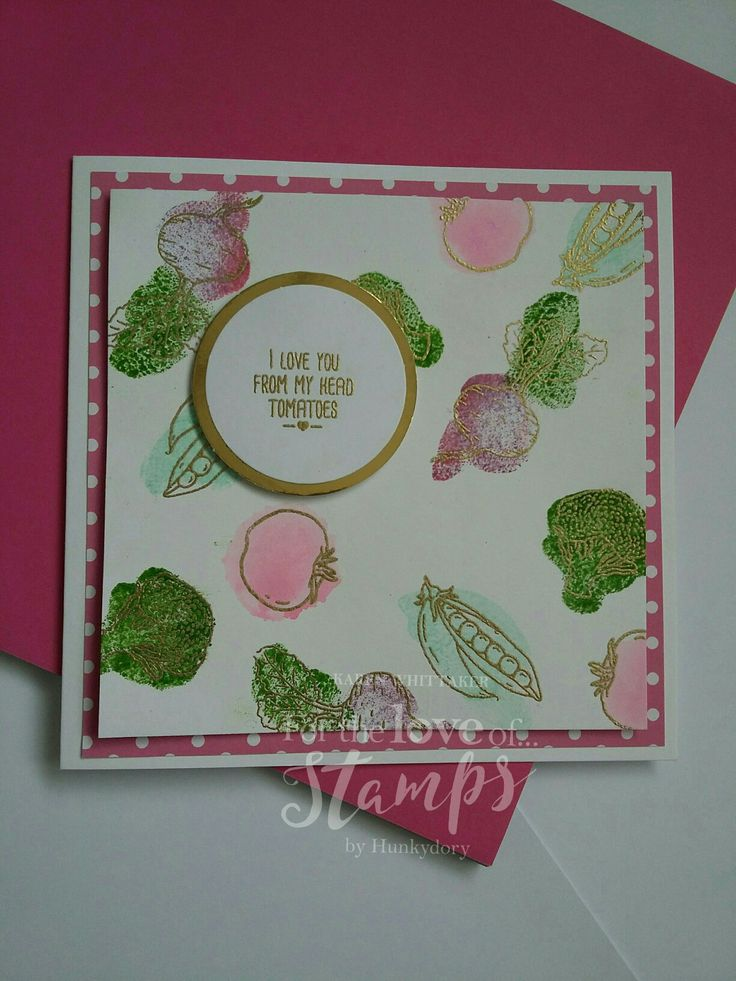 For The Love of Stamps Mixed Vegetables #fortheloveofstamps #mixedvegetables #heatembossing #distressinks #dtsample #stamping #stamps #cardmaking #handmade #craft #cards