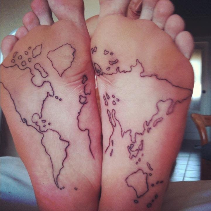 Travel the world tattoo. I like that it would fade. :)