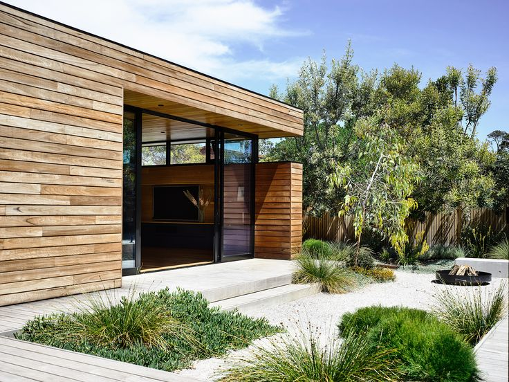 Raw timber and strong lines give this Mornington Peninsula home by Planned Living Architects a seamless connection from indoors to out. Photography: Derek Swalwell | Styling: Natalie James