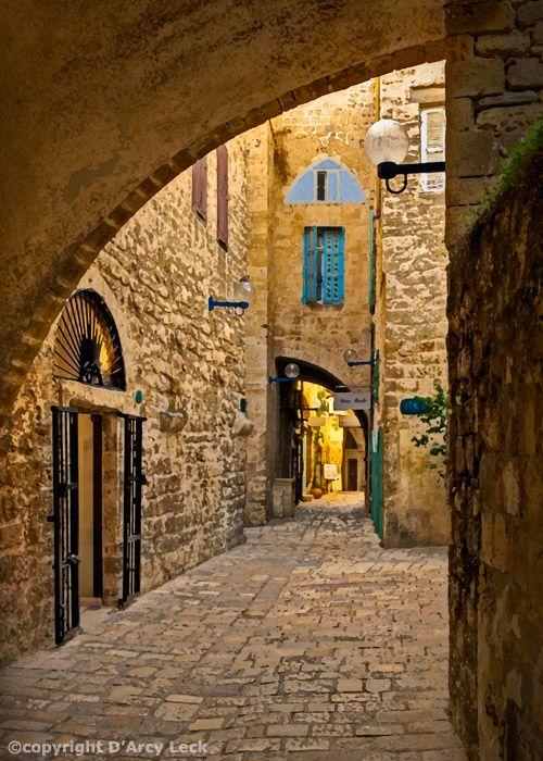 Street in Old Jaffa   Israel