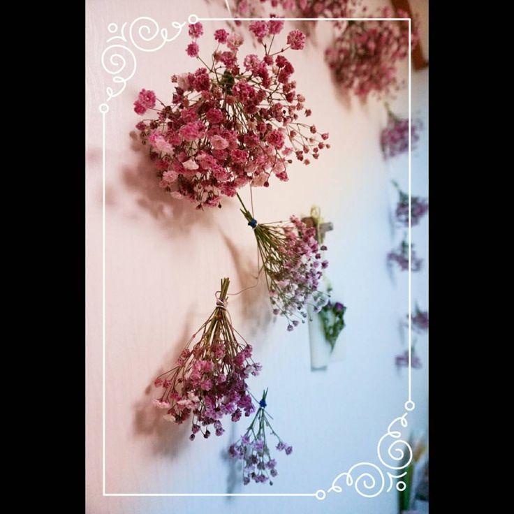 #사진, 그리고 #편집.. 이래서 찍고 또 찍게 되는가보다~  #생일 #엄마 #선물 #꽃바구니 #birthday #present #flower #dryflower #드라이플라워 #자주색 #안개꽃 #인테리어 #와이어 #홈데코 #월데코 #thankyoumom #꽃 #꽃스타그램