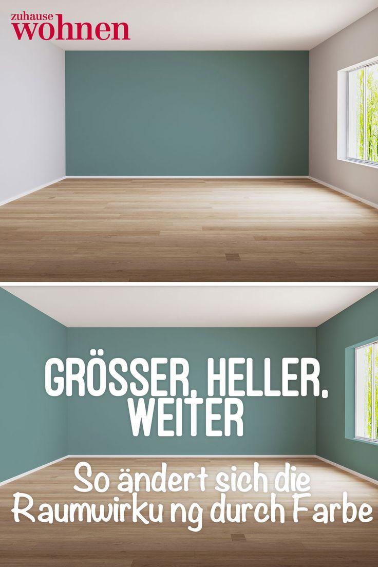 Raumwirkung Durch Wandfarbe So Wirken Kleine Räume Größer Wohnung Streichen Schöner Wohnen Wandfarbe Wohnzimmer Streichen
