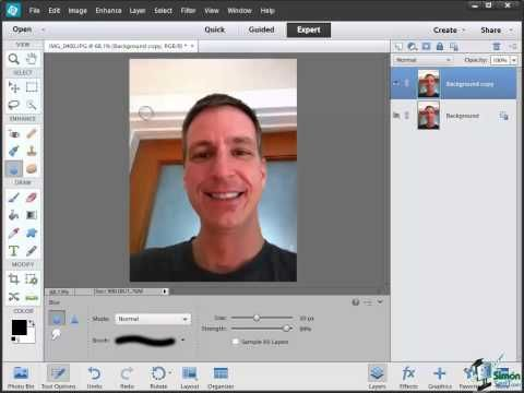 How to Use the Sharpen and Blur Tool with Photoshop Elements 12 to Enhance an Image - YouTube