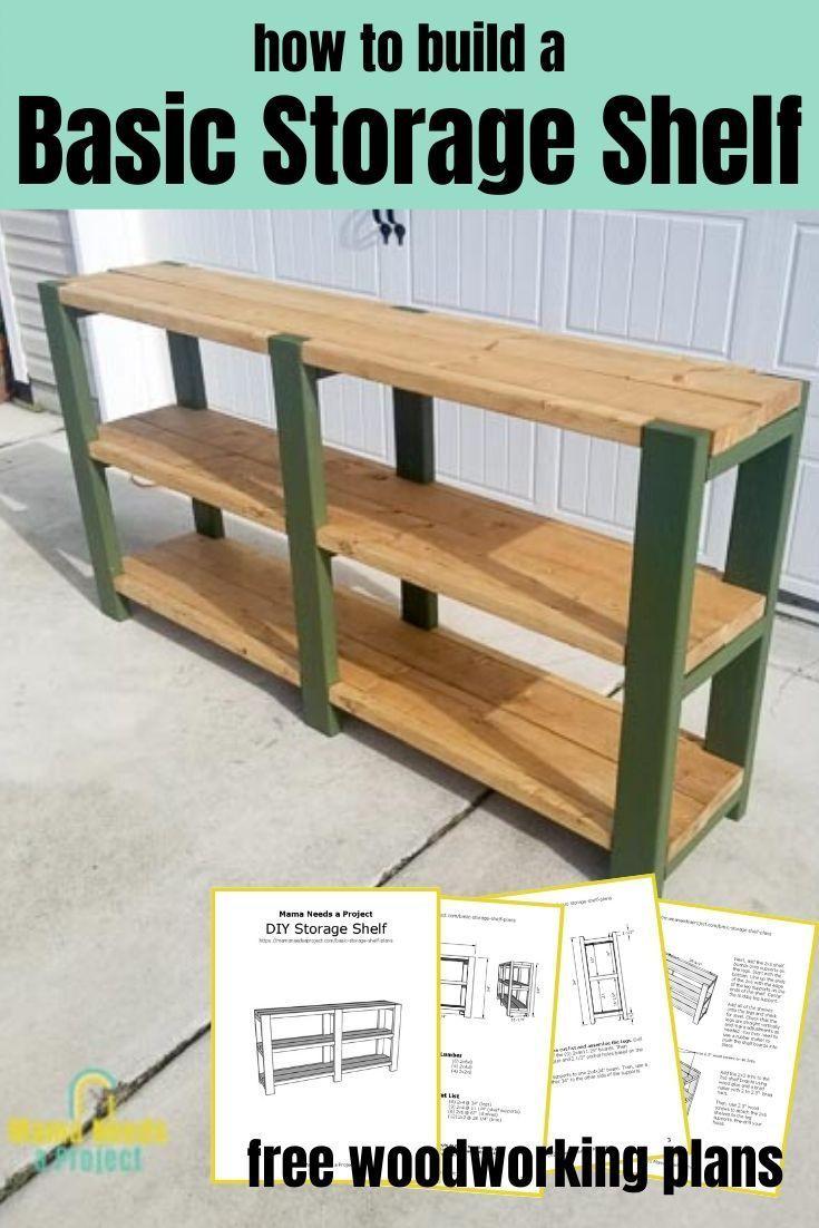 Basic Storage Shelf Plans In 2020 Woodworking Plans Shelves Diy