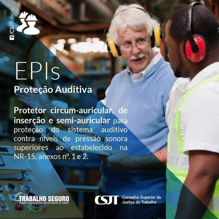 É responsabilidade do empregador selecionar o EPI adequado ao risco de cada atividade e fornecer ao trabalhador somente o aprovado pelo órgão nacional competente em matéria de segurança e saúde no trabalho. Para a proteção auditiva é obrigatório o uso de protetores auriculares nas atividades em que o ruído seja excessivo.   Saiba mais sobre o uso de EPIs na NR n°6 em:http://goo.gl/xnXhT  Fonte: Conselho Superior da Justiça do Trabalho (CSJT)