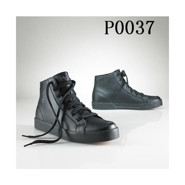 Polo Ralph Lauren Mens CalfskLeather Shoes Black via Polyvore