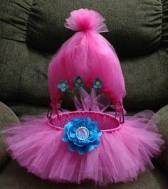 Pink Trolls TUTU Easter Basket Headband Bottle Cap by ForYourGlory