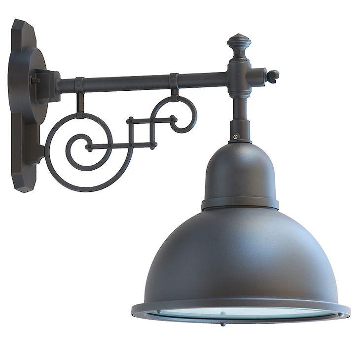 Historische Außenlampe mit Halbkugel-Schirm 44213 von Terme