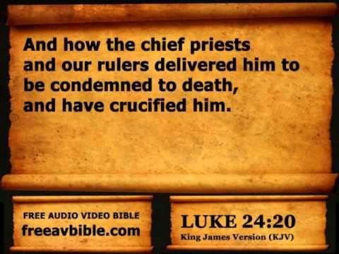 #42. Luke Chapter 24 King James Version KJV N2 – Free Audio Video Bible ...