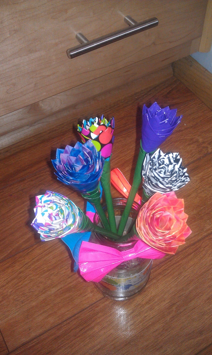 49 best Wedding duct tape flowers images on Pinterest