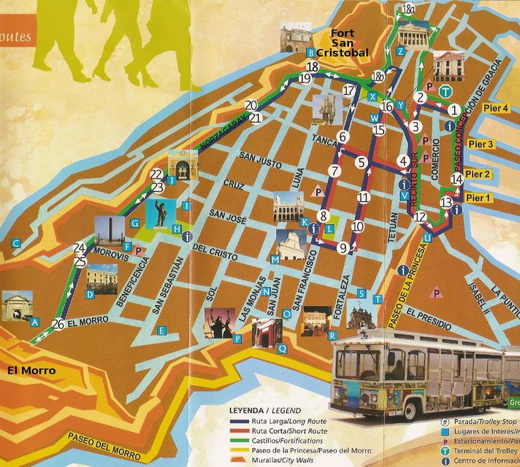 map of old san juan puerto rico | Click the map above for a larger map in a new window.