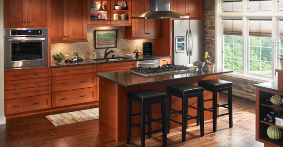 Kraftmaid Durham Cherry Square Kitchen Redo Pinterest